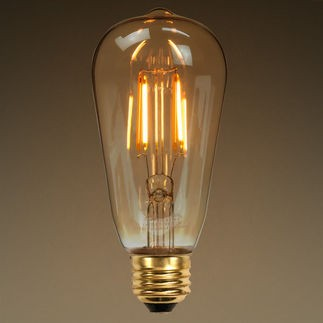 ST64 Antique 6W LED Filament bulb