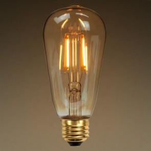 ST64 Antique 6W LED Filament bulb